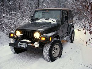 English: A Jeep Wrangler TJ with a 2 inch susp...